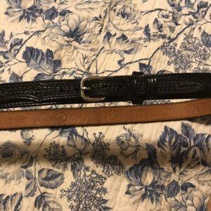 Western leather black belt. Size 42